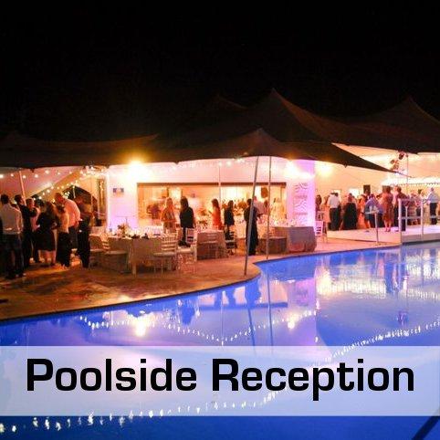 Poolside Reception Decor