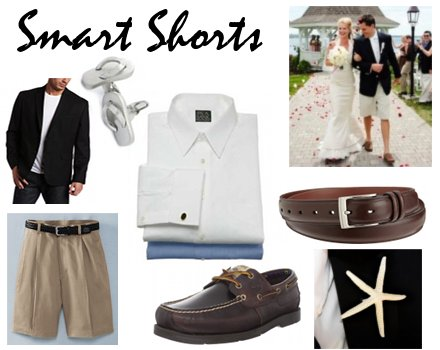 Groom in Beach Wedding Shorts