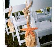 beach wedding pew markers